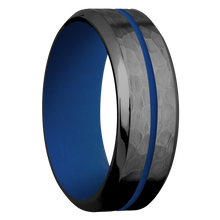 Load image into Gallery viewer, Zirconium Wedding Band With Hammer & Polish Finish