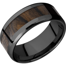 Load image into Gallery viewer, Hardwood Wedding Band With Polish Finish