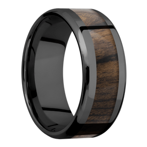 Hardwood Wedding Band With Polish Finish