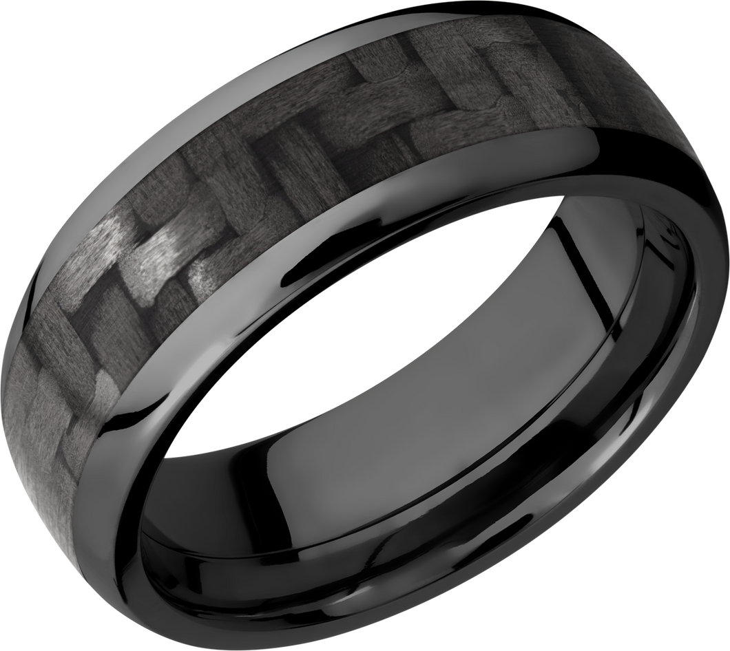 Lashbrook Zirconium 8mm Domed Band