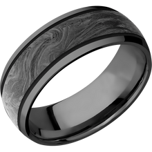 Load image into Gallery viewer, Zirconium Wedding Band With Polish Finish