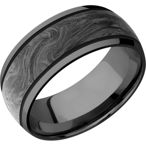 Zirconium Wedding Band With Polish Finish