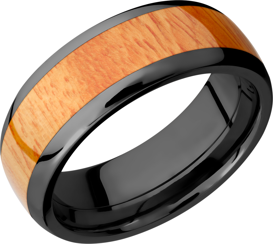 lashbrook hw zirconium 8mm domed band