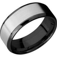 Load image into Gallery viewer, Zirconium Wedding Band With Satin & Polish Finish