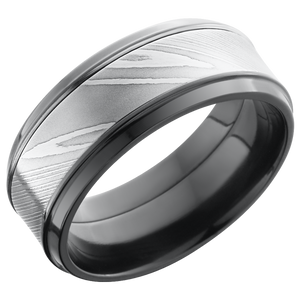 lashbrook damascus zirconium 9mm beveled band