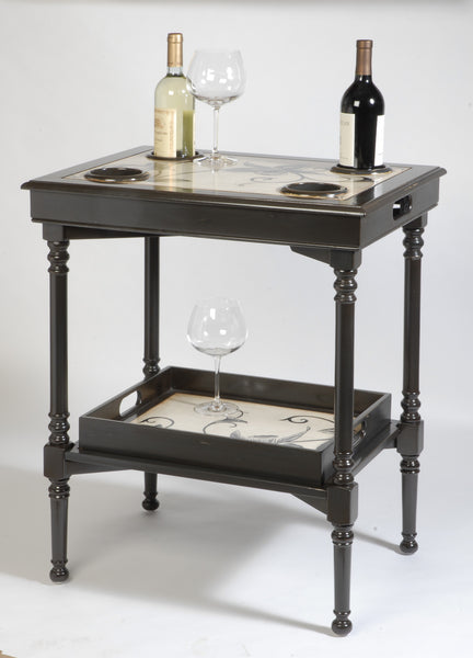 Small Side Table With Cup Holders Accent Table The