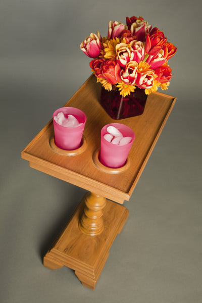 Chair Side End Table Small Side Tables Cup Holders