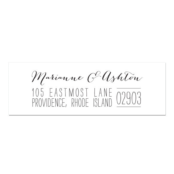 Custom return address labels for weddings, party's and thank you notes