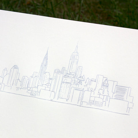 Embossed NYC Skyline Print