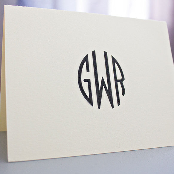 Monogram Arc Note Card