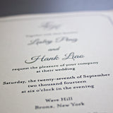 Monogram Wedding Invitation, Thermography