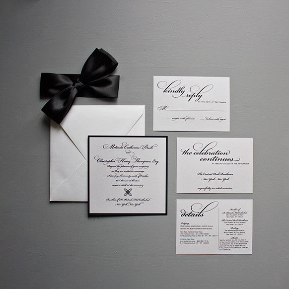 Script Wedding Invitation, Thermography