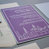 NYC Skyline, Metallic Silver