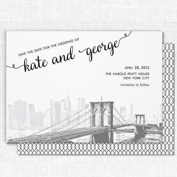Brooklyn Bridge Wedding Save the Date