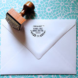 Custom Address Stamps, Personalized, Return Address, Calligraphy Style