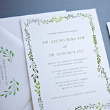 Garden, Vine, Floral Wedding Invitation Design