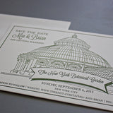 Botanical Garden Wedding Save the Date, Hand Drawn