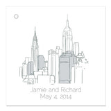 ny city skyline favor tag