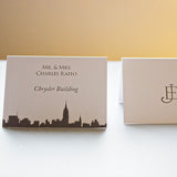 New York City skyline escort cards