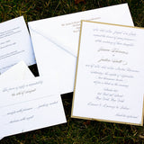 Silver and Gold Wedding Invitation, Thermography