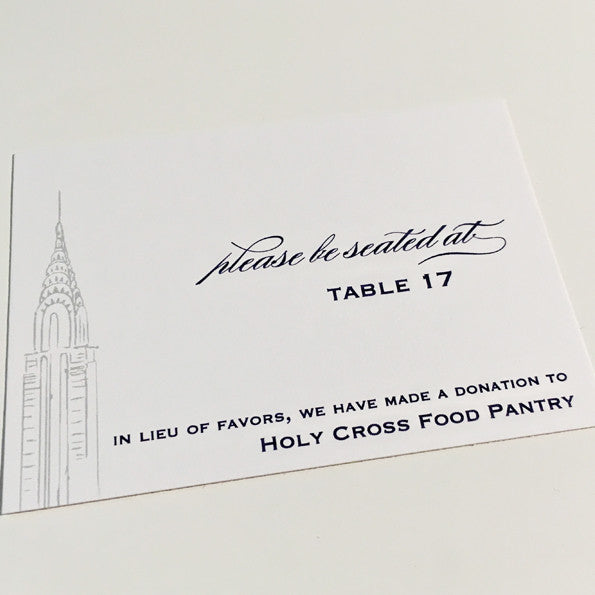 Custom Escort Card, Place Card with Envelopes
