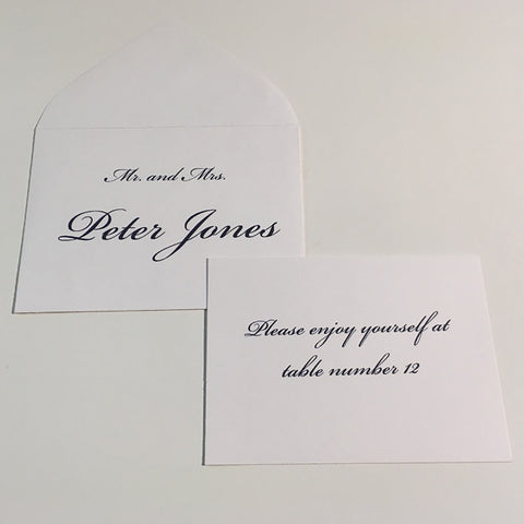 Escort/Place Card, Envelope