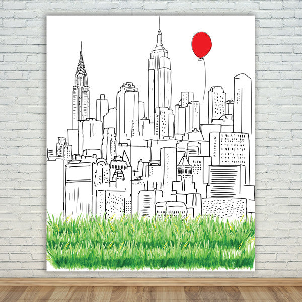 New york city skyline backdropbanner step and repeat photobooth new york city skyline backdrop voltagebd Images