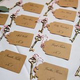 Vintage Skeleton Key Tag Escort or Place Card