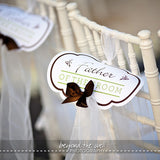 wedding chair signs, custom