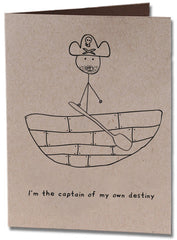 Captain of Destiny Birthday Card