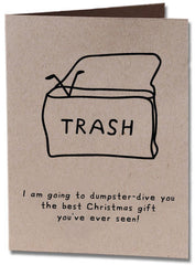 Dumpster-Dive Christmas Holiday Card