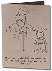 If My Cat Could Talk Christmas Holiday Card