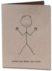 Jazz Hands Valentine's Day Card