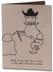 Old Prospector Birthday Card