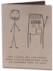 Slot Machine Humor Card