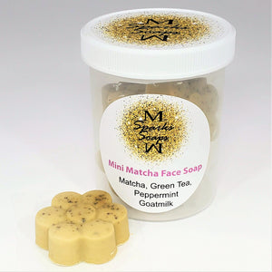 Mini Matcha Face Soap - Sparks Soaps