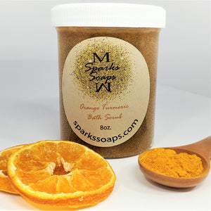 Orange Turmeric Bath Scrub - Sparks Soaps