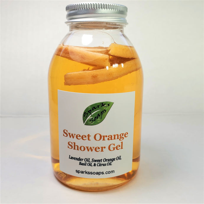 Sweet Orange Shower Gel - Sparks Soaps