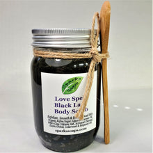 Load image into Gallery viewer, Love Spell Black Lava Body Scrub - Sparks Soaps