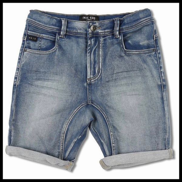 DRIFTER SHORTS (LT DENIM) - INDIE KIDS