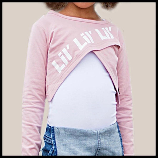 CROSSED TOP  (PINK) - LIL MR