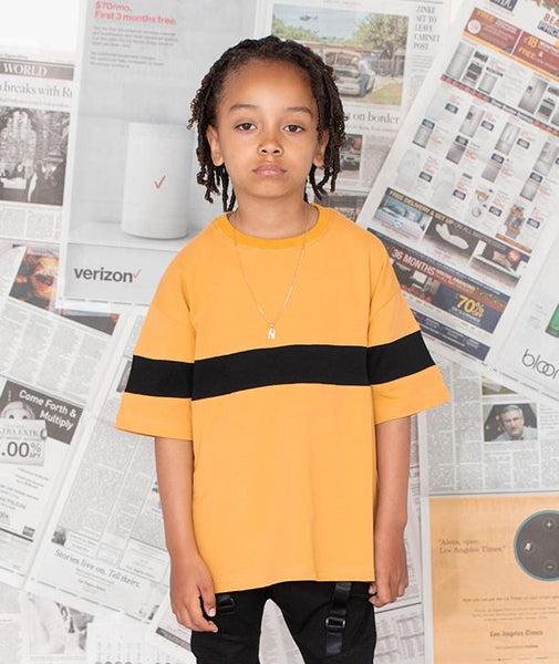 MUSTARD PANEL TEE - LIL XO KINGS