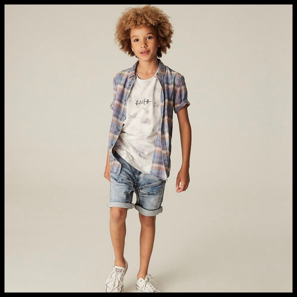 DRIFTER CARGO SHORTS (LT DENIM) - INDIE KIDS