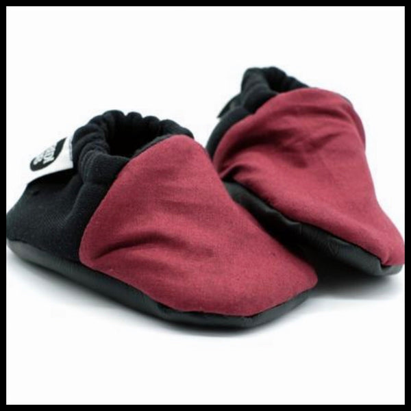 MAROON SOFT SOLE SHOES - BIBBIDI BUB