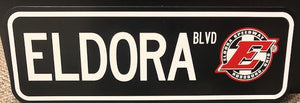Eldora Speedway Metal Road Sign