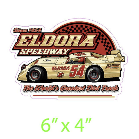 Eldora Pinned Late Model Decal  (2644688863332)