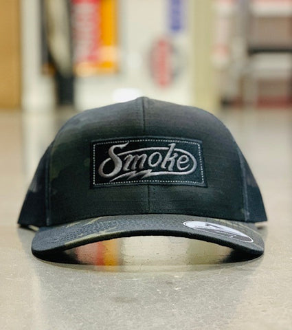 Smoke Multi-Cam Snapback Hat