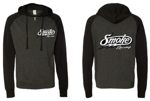 Jersey Raglan Smoke Zip Up