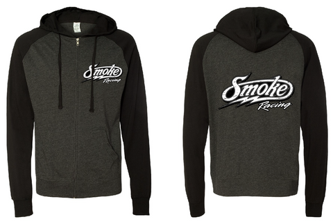 Jersey Raglan Smoke Zip Up (4160899973252)