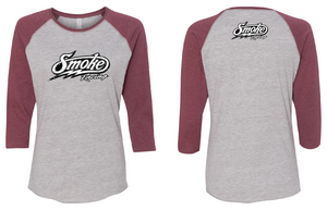 Ladies Smoke Baseball Tee (4162311291012)